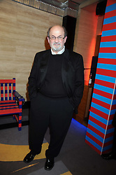 SIR SALMAN RUSHDIE at the launch of Nokia's 'Comes With Music' held at the Bloomsbury Ballroom, 37-63 Bloomsbury Square, London WC1 on 21st October 2008.