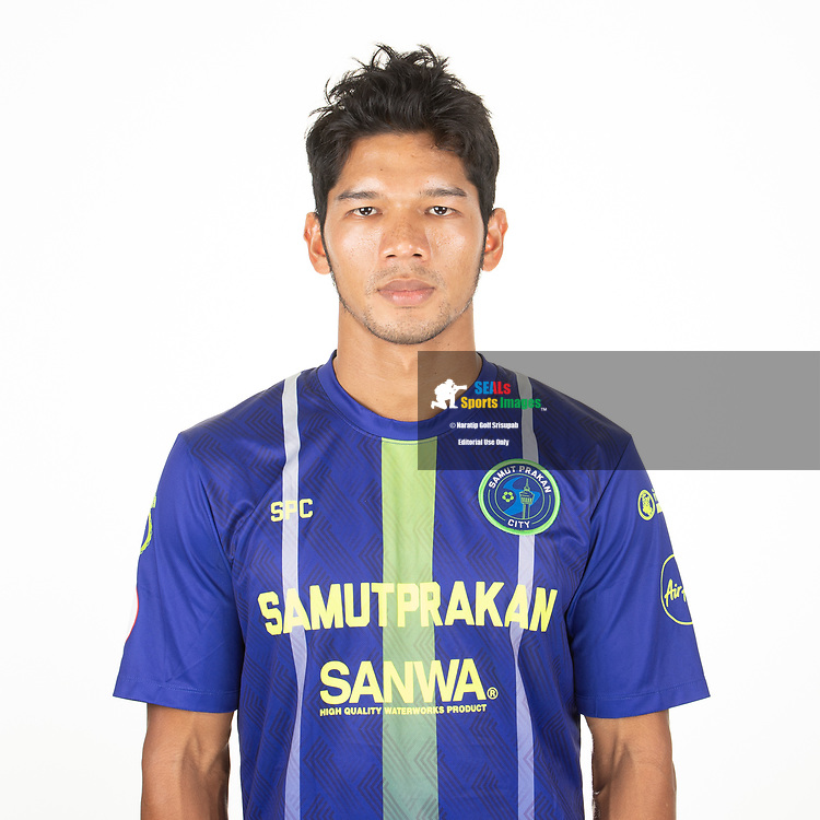 THAILAND - APRIL 09: Kyaw Koko #10 of Samut Prakan City FC on April 09, 2019.<br /> .<br /> .<br /> .<br /> (Photo by: Naratip Golf Srisupab/SEALs Sports Images/MB Media Solutions)