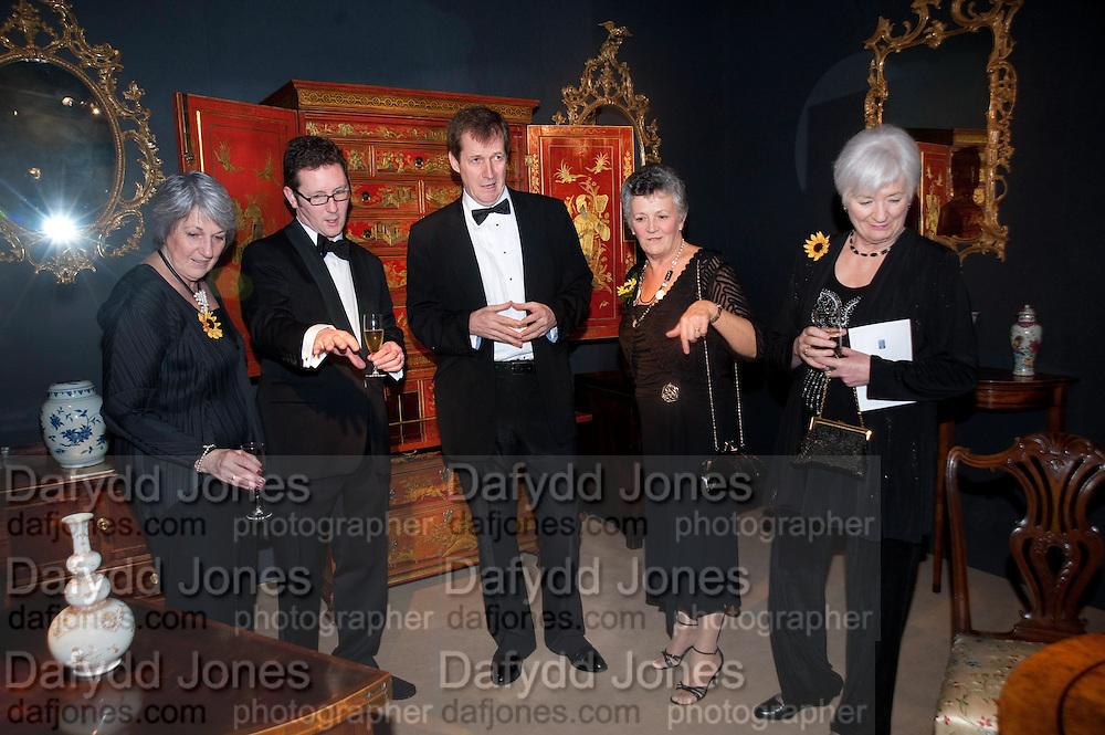 ANGELA BARKER; JONATHAN COULBORN; ALASTAIR CAMPBELL; CHRISTINE CLANCY; LYNDA LOGAN. Bada Antiques Fine art Fair charity Gala. In aid of Leukaemia and Lymphoma Research. 18 March 2010.