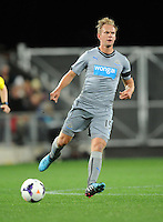 Newcastle United's Siem De Jong against Sydney FC in the first match of the Football United Tour at Forsyth Barr Stadium, Dunedin, New Zealand, Tuesday, July 22, 2014.