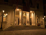 """""""The Phoenix"""" theater at night, """"the most famous and renowned landmark in the history of Italian theatre"""""""