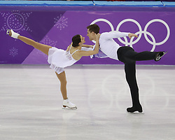 February 15, 2018 - Pyeongchang, KOREA - Natalia Zabiiako and Alexander Enbert of Olympic Athlete from Russia compete in pairs free skating during the Pyeongchang 2018 Olympic Winter Games at Gangneung Ice Arena. (Credit Image: © David McIntyre via ZUMA Wire)