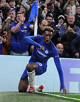 Football - 2018 / 2019 Europa League - Group L: Chelsea vs. PAOK Salonika<br /> <br /> Callum Hudson - Odoi of Chelsea celebrates scoring goal no 3, at Stamford Bridge.<br /> <br /> COLORSPORT/ANDREW COWIE