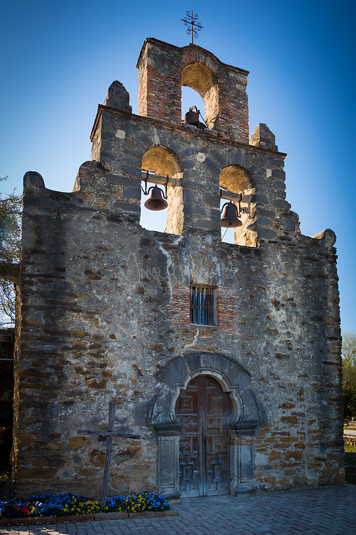 Mission San Francisco de la Espada (also Mission Espada) was a Roman Catholic mission established by Spain near San Antonio de Bexar in northern New Spain in 1731 to convert local Native Americans to Christianity and solidify Spanish territorial claims in the New World against encroachment from France. Today, the structure is one of four missions that comprise San Antonio Missions National Historical Park. Founded in 1690 as San Francisco de los Tejas near Weches, Texas and southwest of present-day Alto, Texas, Mission San Francisco de la Espada was the first mission established in Texas. There are older missions currently in West Texas, but they were in Mexico at the time they were established.