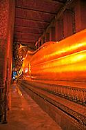 Reclining Buddha Statue, Wat Pho Temple, Bangkok Thailand
