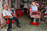 08 JANUARY 2007 - MANAGUA, NICARAGUA:  A barber shop in Mercado Oriental, the main market that serves Managua, Nicaragua. The market encompasses dozens of square blocks and is the largest market in Central America.  Photo by Jack Kurtz