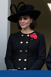 © Licensed to London News Pictures. 12/11/2017. London, UK. CATHERINE DUCHESS OF CAMBRIDGE attends a<br />  Remembrance Day Ceremony at the Cenotaph war memorial in London, United Kingdom, on November 13, 2016 . Thousands of people honour the war dead by gathering at the iconic memorial to lay wreaths and observe two minutes silence. Photo credit: Ray Tang/LNP
