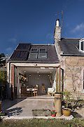 Photographs of Madras Cottage, in Melrose. The house was renovated over two years by the owners , OIllie & Rcahelk Walker.