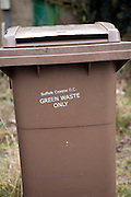 Brown wheelie bin for green organic waste Suffolk Coastal District Council