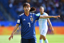 Nakajima during the FIFA Women's World Cup group D first round soccer match between Argentina and Japan at Parc des Princes Stadium in Paris, France on June 10, 2019. The FIFA Women's World Cup France 2019 will take place in France from 7 June until 7 July 2019. Photo by Christian Liewig/ABACAPRESS.COM