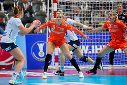 06-12-2019 JAP: Norway - Netherlands, Kumamoto<br /> Last match groep A at 24th IHF Women's Handball World Championship. / The Dutch handball players won in an exciting game of fear gegner Norway and wrote in the last group match at the World Handball  World Championship history (30-28). / Jessy Kramer #5 of Netherlands, Danick Snelder #10 of Netherlands