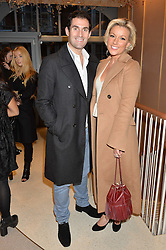 ZAFAR RUSHDIE and his wife NATALIE COYLE at a party to celebrate the collaboration of J&M Davidson and Tanya Lingheld at J&M Davidson, 104 Mount Street, London on 18th October 2016.