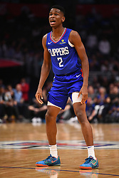 October 19, 2018 - Los Angeles, CA, U.S. - LOS ANGELES, CA - OCTOBER 19: Los Angeles Clippers Guard Shai Gilgeous-Alexander (2) looks on during a NBA game between the Oklahoma City Thunder and the Los Angeles Clippers on October 19, 2018 at STAPLES Center in Los Angeles, CA. (Credit Image: © Brian Rothmuller/Icon SMI via ZUMA Press)