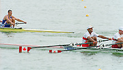 St Catherines, CANADA,    Mens's double Sculls. CAN M2X. Todd HALLETT and Lawrence NWAESEI. 1999 World Rowing Championships - Martindale Pond, Ontario. 08.1999..[Mandatory Credit; Peter Spurrier/Intersport-images]    .... 1999 FISA. World Rowing Championships, St Catherines, CANADA