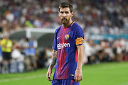 Barcelona Lionel Messi during the International Champions Cup match between Real Madrid and FC Barcelona at the Hard Rock Stadium, Miami on 29 July 2017.