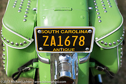 Harley-Davidson Panhead detail taken at the AMCA (Antique Motorcycle Club of America) Sunshine Chapter National Meet in New Smyrna Beach during Daytona Beach Bike Week. FL. USA. Saturday March 11, 2017. Photography ©2017 Michael Lichter.