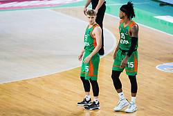 during basketball match between KK Cedevita Olimpija (SLO) and Dolomiti Energia Trento (ITA) in Round #9 of Eurocup 2020/21, on December 8, 2020 in Arena Stozice, Ljubljana, Slovenia. Photo by Grega Valancic / Sportida