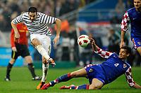 FOOTBALL - FRIENDLY GAME 2010/2011 - FRANCE v CROATIA - 29/03/2011 - PHOTO GUY JEFFROY / DPPI - ADIL RAMI (FRA) / DEJAN LOVREN (CRO)