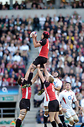 2004 England vs Canada - Investec Challenge - Twickenham.<br /> 13.11.2004 Photo  Peter Spurrier. <br /> Josh Jackson collects the line out ball.<br /> email images@intersport-images.com