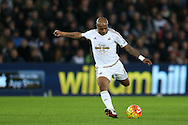 Andre Ayew of Swansea city in action. Barclays Premier league match, Swansea city v West Bromwich Albion at the Liberty Stadium in Swansea, South Wales  on Boxing Day Saturday 26th December 2015.<br /> pic by  Andrew Orchard, Andrew Orchard sports photography.