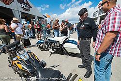 Willie G. Davidson at Wednesday's Ride-In Bike Show at the Harley-Davidson display during Daytona Bike Week. FL, USA. March 12, 2014.  Photography ©2014 Michael Lichter.