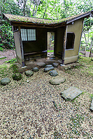 Sankeien Shunsoro Teahouse - Once the private domain of the silk baron Hara Sankei, one of Japan's most exquisite gardens was opened to the public in 1904. Hara wished to share the beauty of his bounty by opening up his grounds, surely one of the world's most beautiful examples of benevolent capitalism. The cherry blossoms in spring and maple leaves in autumn make Sankeien a favorite spot in Yokohama for residents and visitors alike. Besides the landmark three-storied pagoda, koi ponds, streams and an elegant feudal lord's residence, numerous tea houses are scattered through the expanse.