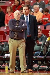 05 November 2016:  Marty Bell and Ryan Hellenthal during an NCAA  mens basketball game where the Quincy Hawks lost to the Illinois State Redbirds in an exhibition game at Redbird Arena, Normal IL