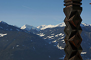 Italy, Friuli-Venezia Giulia, San Leonardo A view towards the Alps