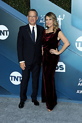 Tom Hanks and Rita Wilson at the 26th Annual Screen Actors Guild Awards held at the Shrine Auditorium in Los Angeles, USA on January 19, 2020.