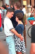 Couple age 25 deep in conversation.   Krakow Poland