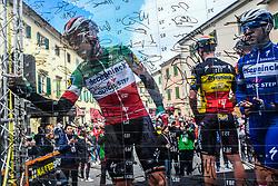 March 15, 2019 - Pomarance, Pisa, Italia - Foto Gian Mattia D'Alberto / LaPresse.15/03/2019 Pomarance (Italia) .Sport Ciclismo.Tirreno-Adriatico 2019 - edizione 54 - da Pomarance a Foligno  (226 km) .Nella foto:Elia Viviani ITA..Photo Gian Mattia D'Alberto / LaPresse .March 15, 2018 Pomarance (Italy).Sport Cycling.Tirreno-Adriatico 2019 - edition 54 - Pomarance to Foligno (140 miglia) .In the pic:Elia Viviani ITA (Credit Image: © Gian Mattia D'Alberto/Lapresse via ZUMA Press)
