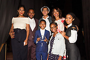 L-R front row: Mile Brown, Marsai Martin, Yara Shahidi, back row: Tracee Ellis Ross, Anthony Anderson, Marcus Scribner, Channing Dungey, President ABC Entertainment
