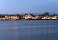 Santa Cruz Beach Boardwalk at dusk