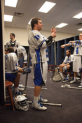 31 May 2010: Duke Blue Devils attackman Max Quinzani (8) before playing the Notre Dame Irish in the NCAA Lacrosse Championship at M&T Bank Stadium in Baltimore, MD.  The Blue Devils would go on that day to win the national title.
