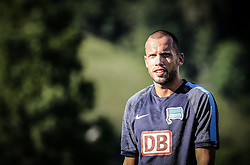 04.08.2014, Athletic Area, Schladming, AUT, Hertha BSC, im Bild John Heitinga (Hertha BSC, #5), Special-Effekt-Entwicklung // during a training session of the German Bundesliga Club Hertha BSC at the Athletic Area, Austria on 2014/08/04. EXPA Pictures © 2014, PhotoCredit: EXPA/ Martin Huber