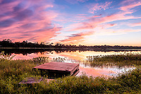 Sunset over McMeekin Lake near Hawthorne, FL