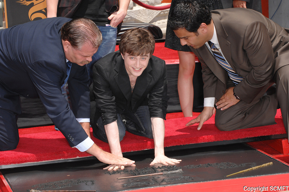 7/9/2007 Daniel Radcliff's hand/footprint ceremony at the Chinese Theater