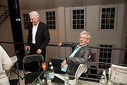 RICHARD EYRE AND SIR IAN MCKELLEN , These Foolish Things, charity evening hosted by Sir Richard and Lady Rogers. Chelsea. London. 7 May 2008.  *** Local Caption *** -DO NOT ARCHIVE-© Copyright Photograph by Dafydd Jones. 248 Clapham Rd. London SW9 0PZ. Tel 0207 820 0771. www.dafjones.com.