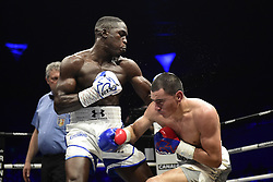 April 7, 2018 - Paris, France, France - Souleymane CISSOKHO (FRA) vs Jose De Jesus MACIAS (MEX).Combat international des poids super welters (Credit Image: © Panoramic via ZUMA Press)