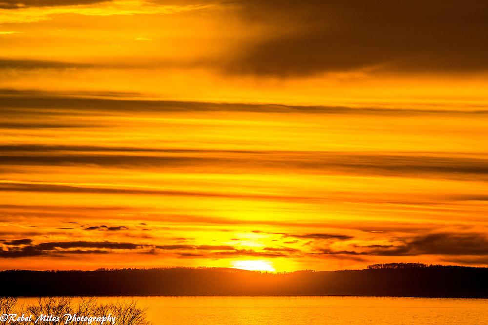 Winter Orange Sunset
