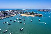 Newport Bay and Bay Island of Newport Beach