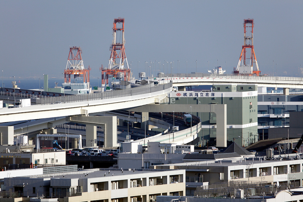 looking out over Tokyo bay from Yokohama