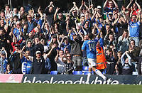 Photo: Mark Stephenson.<br /> Birmingham City v Coventry City. Coca Cola Championship. 01/04/2007.Birmingham's DJ Campball hols two fingers in in air while celebrating his 2ed goal