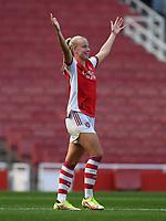 Football - 2021 / 2022 Women's Super League - Arsenal vs Chelsea - Emirates Stadium - Sunday 5th September 2021<br /> <br /> Arsenal Women's Beth Mead celebrates scoring her side's third goal.<br /> <br /> COLORSPORT/Ashley Western