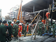 KUNMING, CHINA - MARCH 16: (CHINA OUT)<br /> <br /> One Died And Another 20 Injured In Kunmings Instruction Building Collapse<br /> <br /> Armed police officers and fire workers rescue trapped workers as a five-storey steel structural building which\'s under construction collapsed Wednesday afternoon in Guandu District on March 16, 2016 in Kunming, Yunnan Province of China. At least one died and still another more than twenty people got injured in northwest China\'s Yuannan province building collapse. <br /> ©Exclusivepix Media