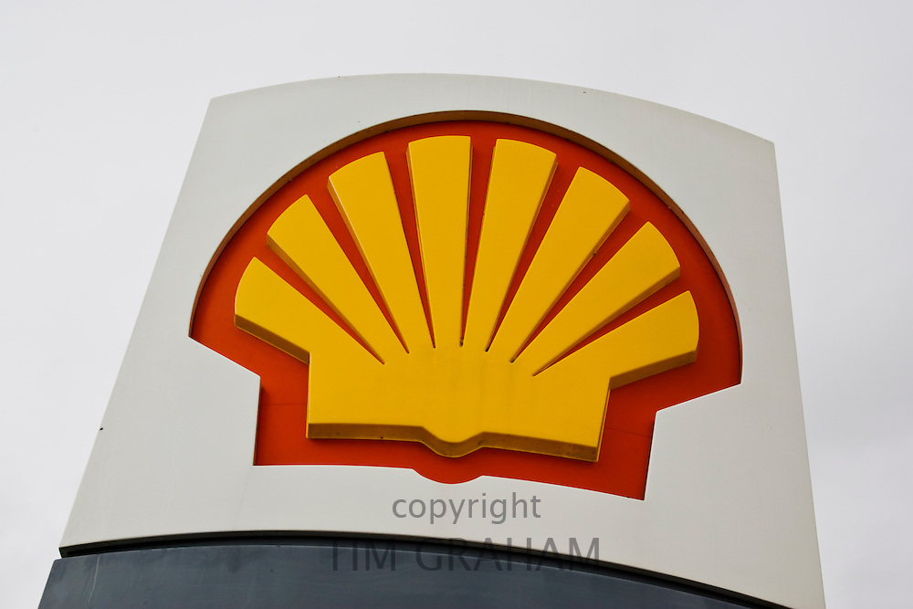 Shell petrol station sign, Gloucestershire, United Kingdom