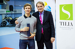 Matic Spec and Marko Umberger, president of TZS at Tennis exhibition day and Slovenian Tennis personality of the year 2013 annual awards presented by Slovene Tennis Association TZS, on December 21, 2013 in BTC City, TC Millenium, Ljubljana, Slovenia.  Photo by Vid Ponikvar / Sportida
