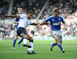Derby County's Cyrus Christie cuts inside - Photo mandatory by-line: Dougie Allward/JMP - Mobile: 07966 386802 30/08/2014 - SPORT - FOOTBALL - Derby - iPro Stadium - Derby County v Ipswich Town - Sky Bet Championship
