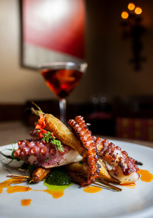 Grilled octopus at Esteban in Monterey, California.