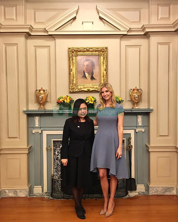 """Ivanka Trump releases a photo on Instagram with the following caption: """"Meet Boom Mosby, Founder and Director of Hope, Understanding, and Grace (HUG) Project. Boom is an incredible advocate for victims of sexual abuse in Thailand and has been a key contributor to Thai anti-trafficking efforts. As Boom wisely shared yesterday, \"""". Photo Credit: Instagram *** No USA Distribution *** For Editorial Use Only *** Not to be Published in Books or Photo Books ***  Please note: Fees charged by the agency are for the agency's services only, and do not, nor are they intended to, convey to the user any ownership of Copyright or License in the material. The agency does not claim any ownership including but not limited to Copyright or License in the attached material. By publishing this material you expressly agree to indemnify and to hold the agency and its directors, shareholders and employees harmless from any loss, claims, damages, demands, expenses (including legal fees), or any causes of action or allegation against the agency arising out of or connected in any way with publication of the material."""